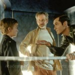 Steven Spielberg, Jude Law und Haley Joel Osment (A.I. ARTIFICIAL INTELLIGENCE, 2001)